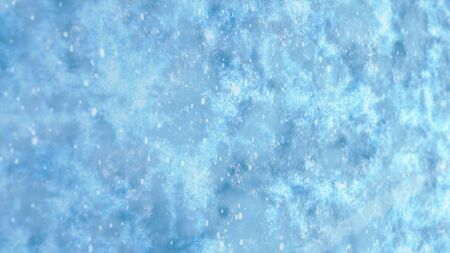 Falling Snow on ice surface background concept Christmas, happy new year, animation 3D rendering Stok Fotoğraf