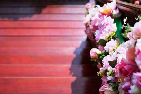 Thai wedding flower and decoration wedding ceremony