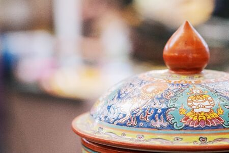Beautiful Thailand Handmade Traditional Earthenware close up
