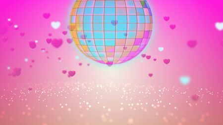Digitally Generated Sparkle disco ball background 3D rendering