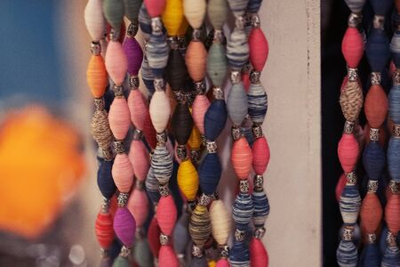 Colorful thread beads necklace accessories for woman