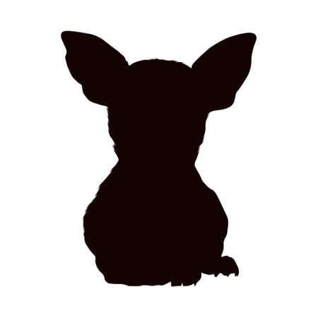 Chihuahua Silhouette Vector Found In Map of South America