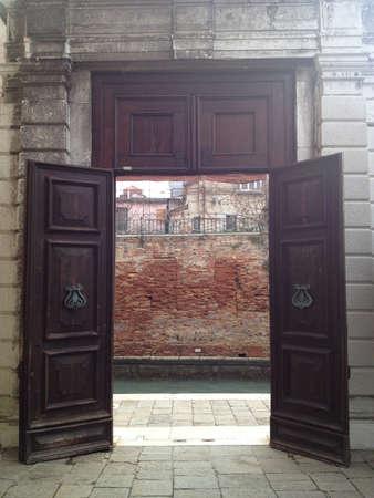 door way: Mysterious Venetian Door Way Stock Photo