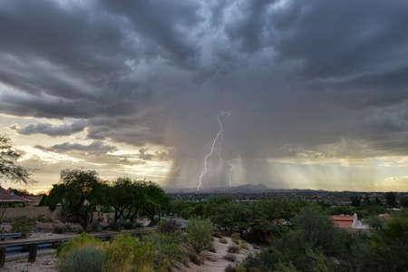 Lightning  Monsoon Storm Stock Photo