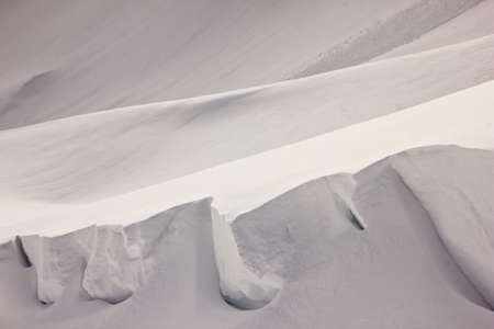 Snow Dunes looking like an Iceberg on mount Hoher Ifen  photo