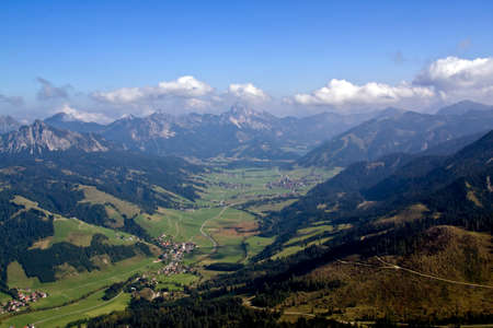 tal: View into Tannheim Valley in Austria Tyrolia