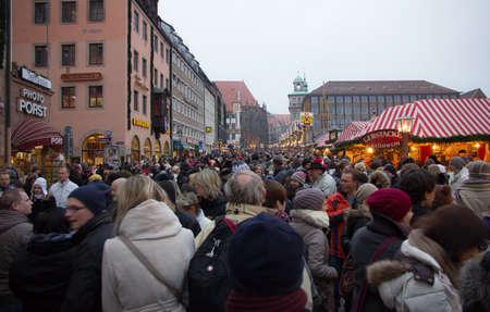 christkindlesmarkt: Crowds at Nuremberg Christmas Market Editorial