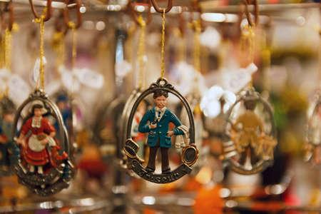 christkindlesmarkt: Metal Christmas ornament of a Coiffeur  German Friseur
