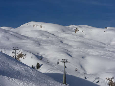 wintersport: Skiing on snow dunes at mount  Hoher Ifen  in the Austrian Alps
