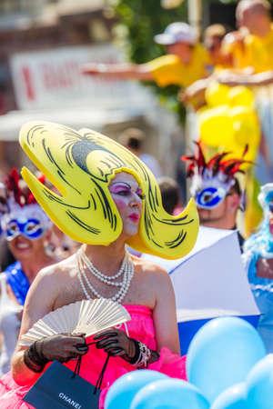 drag queen: Pop Art Drag Queen at Christopher Street Day
