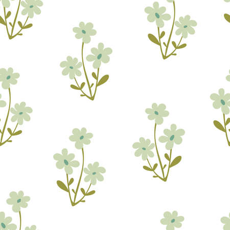 seamless pattern with cartoon flowers. colorful, hand drawing. design for fabric, print, textile, wrapper
