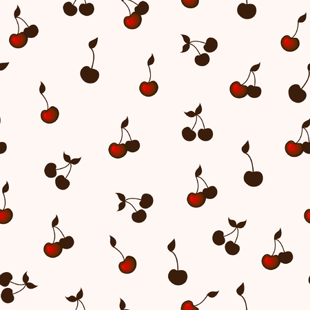 eatable: Seamless background with cherries.