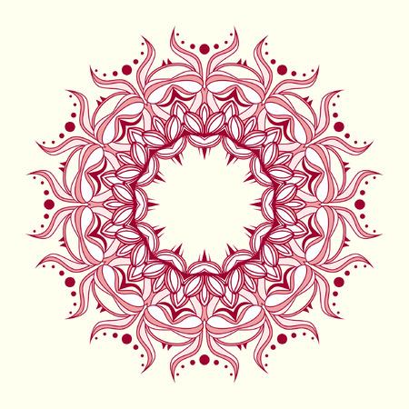 Round decorative pattern in oriental style.