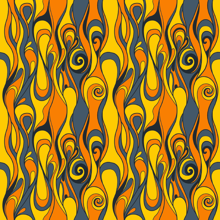 vertigo: Abstract seamless background with a psychedelic pattern. Illustration