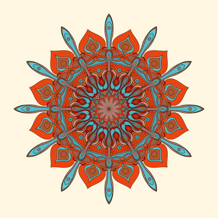 Ethnic rosette, round pattern.