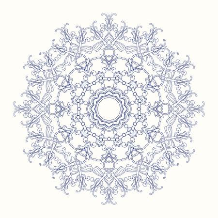 oldened: Round Ornament Pattern. Illustration