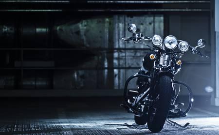motorbike: motorbike in the garage