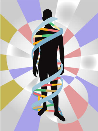 Dna chain abstract  Vector