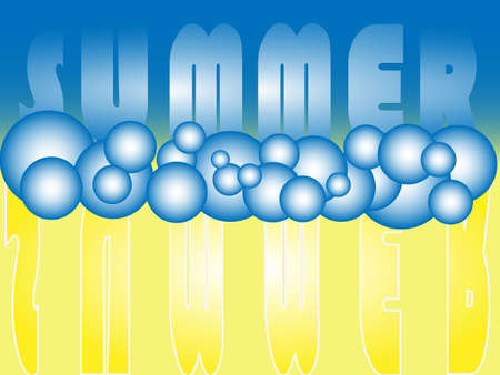 summer bubbles Stock Vector - 22529101