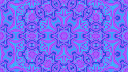 Neon purple blue Concentric Center Macro Close-up. Mandala Kaleidoscopic design