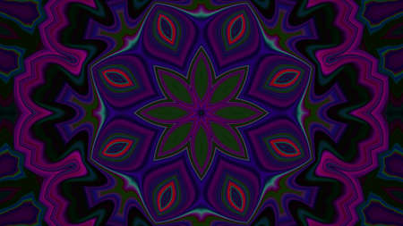 Dark purple blue Concentric Center Macro Close-up. Mandala Kaleidoscopic design Banco de Imagens