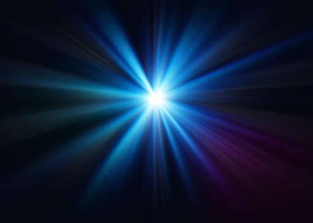Abstract blue background with beming neon light Reklamní fotografie