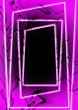 Abstract rectangular frame with luminous swirling background