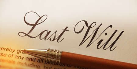 Last will words lettering and pen. Legacy concept