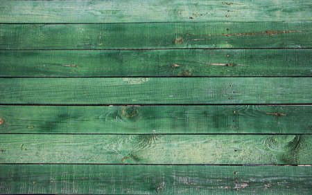 old, grunge wood panels painted into teal green used as background.