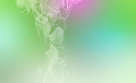 Neon green and pink wipe smoke cloud. Abstract mystic freeze motion diffusion background. Stock fotó