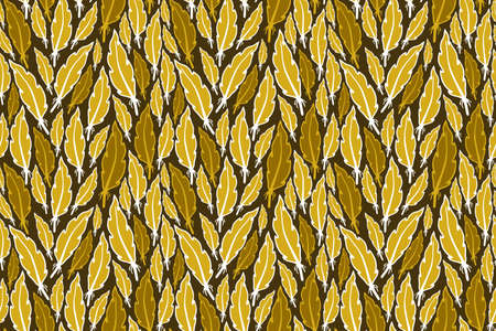 Feather vector seamless pattern. Cute and retro plumage illustration for wallpaper, wrapping, background, fabric and textile.