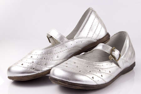 Shiny silver shoes for girls