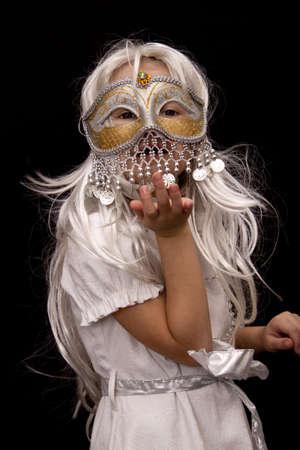 carnival costume: Little girl in carnival costume