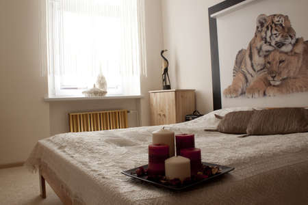 Romantic bedroom with candles Stock Photo - 13562953