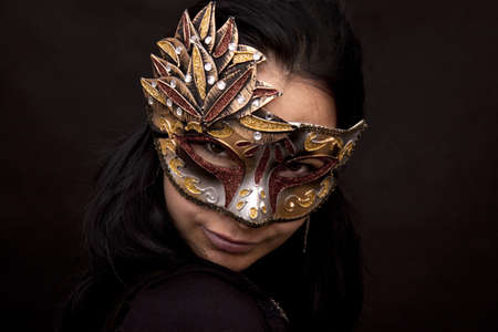 Young woman in carnival mask Stock Photo - 13562963