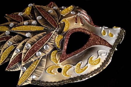 sequins: Brown carnival mask with sequins
