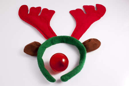 Reindeer costume with red nose