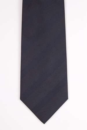 navy blue suit: Navy blue tie on a white background