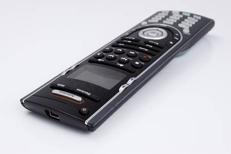 Universal TV remote on a white background