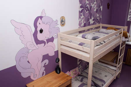 Purple children s room for girls photo