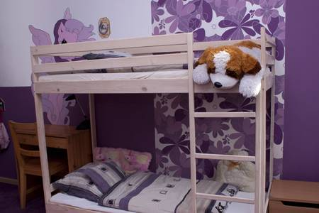 Children s room with bunk bed Stock Photo