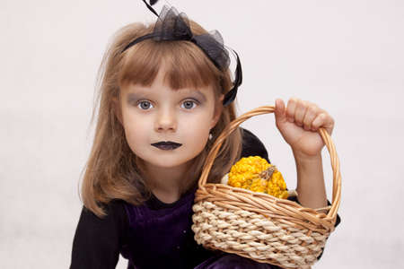 Predatory girl on Halloween Stock Photo - 15754242