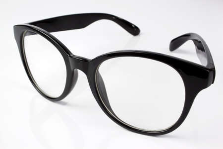 Black eyeglasses for girls Stock Photo