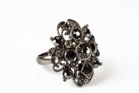 Large black ring on a white background Stock Photo