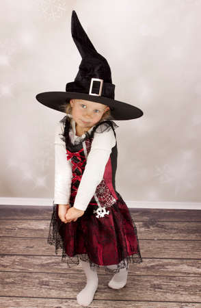 Beautiful girl dressed up for halloween Stock Photo