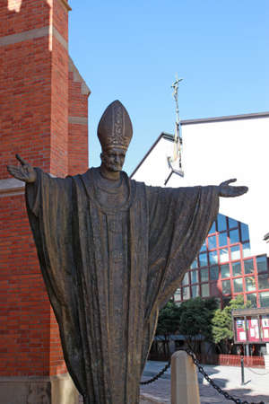 Sculpture of Holy Father Stock Photo