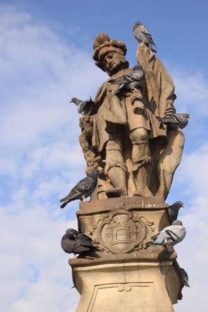 Statue of Saint John Nepomucen Stock Photo