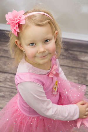 Small princess with flower in head