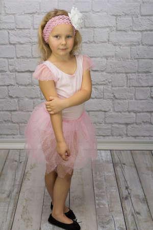 Little ballerina in tulle dress