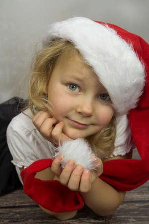 Girl as St. Santas